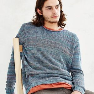 Koto urban outfitters rainbow twist men's sweater